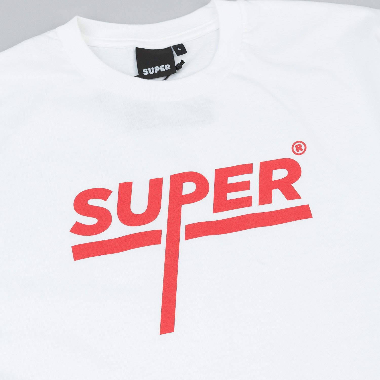 Colorsuper Super Titled T-Shirt - White / Red
