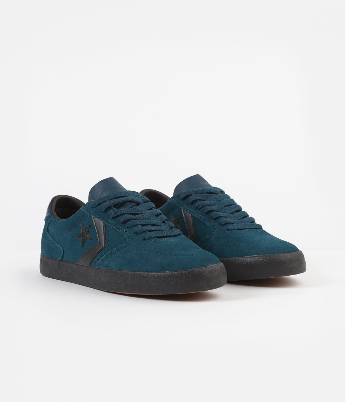 Converse Checkpoint Pro Ox Suede Shoes - Midnight Turquoise / Black / Black