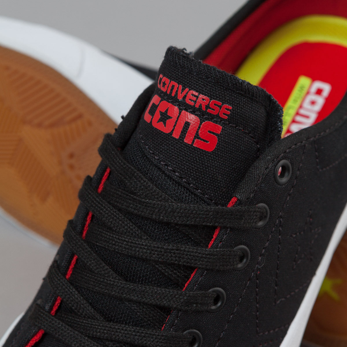 Converse CONS Sumner OX Shoes - Black / Casino Red / White