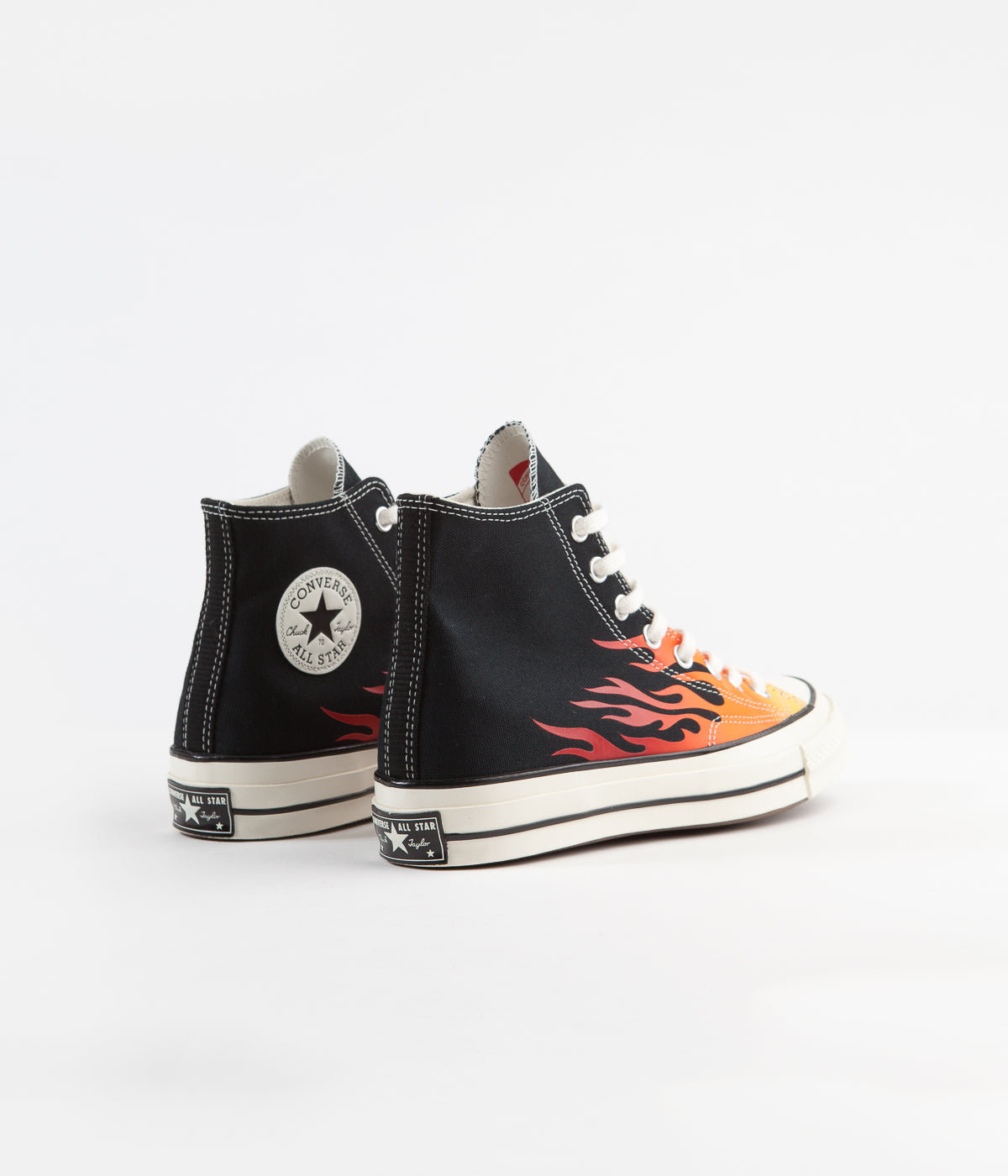 Converse CTAS 70's Hi Archive Print Remixed Shoes - Black / Enamel Red / Bold Mandarin