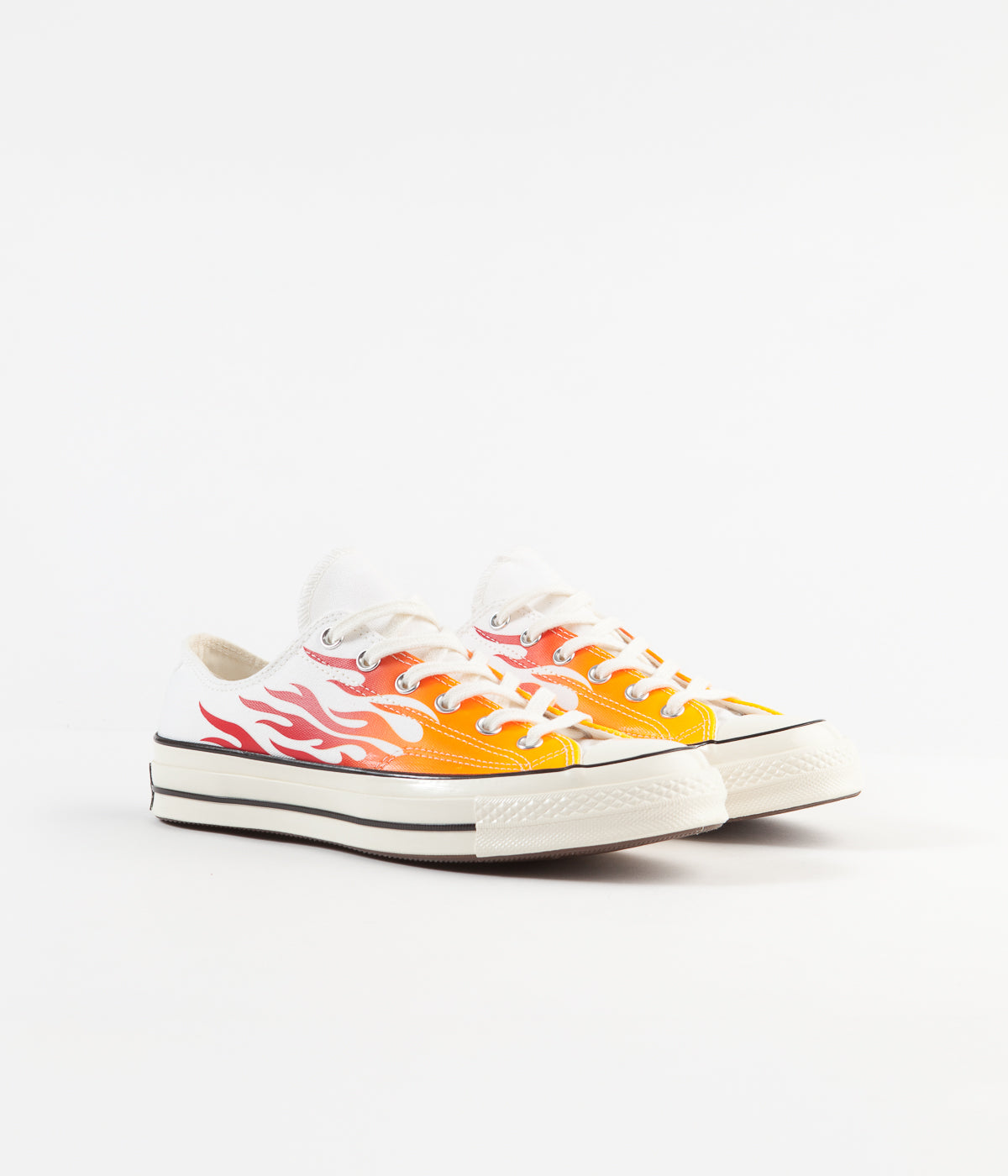 Converse CTAS 70's Ox Archive Print Remixed Shoes - White / Enamel Red / Bold Mandarin