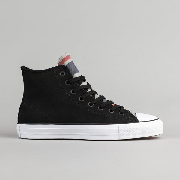 Converse CTAS Pro Blanket Stripe Hi Shoes - Black / White