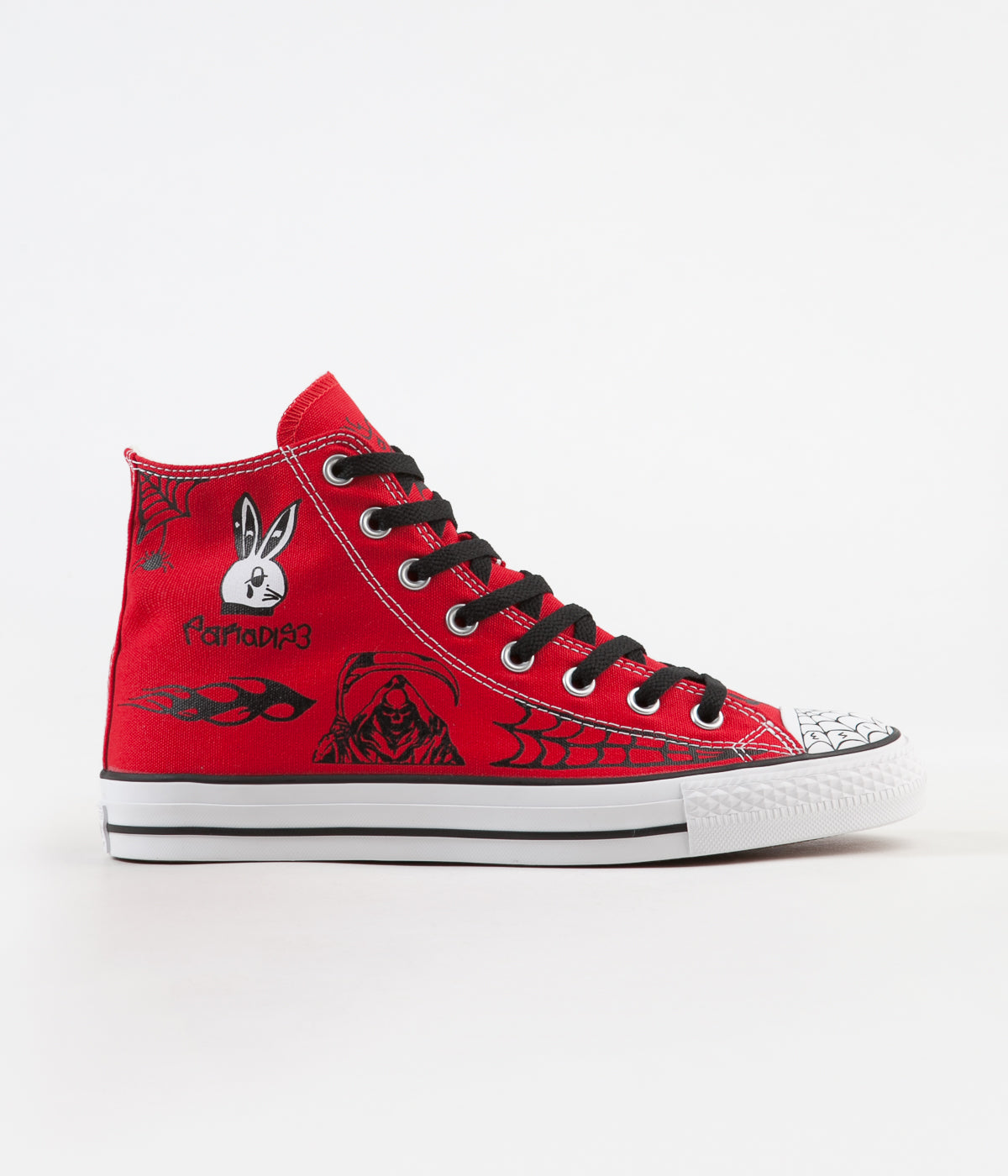dd7288611bb0 Converse CTAS Pro Hi Sean Pablo Shoes - Enamel Red   Black   White ...