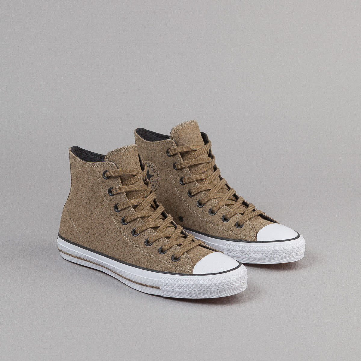 Converse CTAS Pro Hi Shoes - Chocolate / Almost Black / White