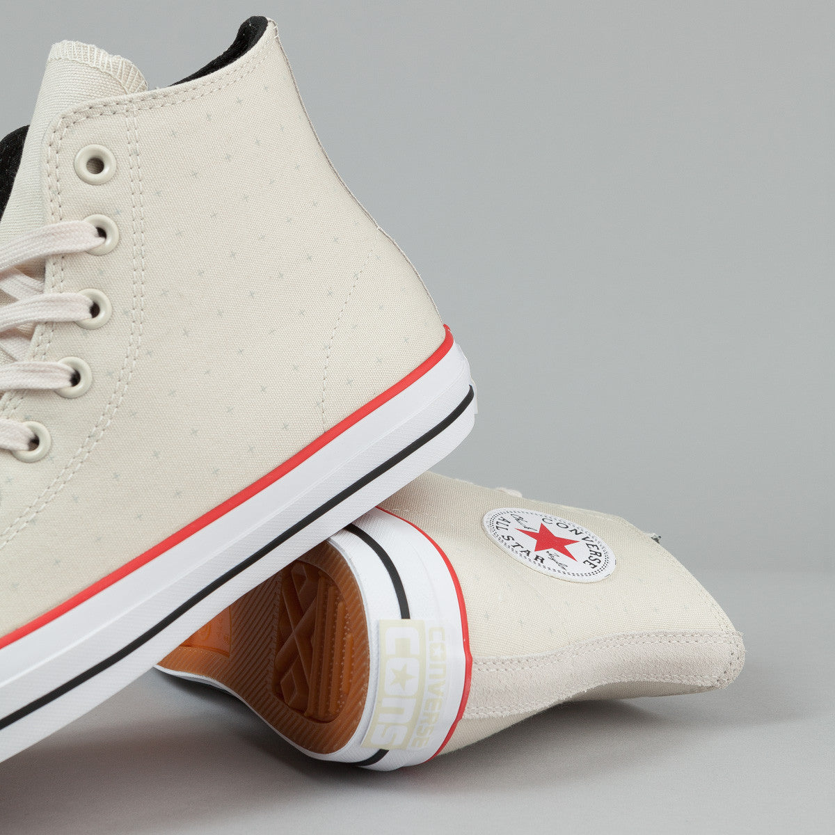 Converse CTAS Pro Hi Shoes - Parchment / Red / Black