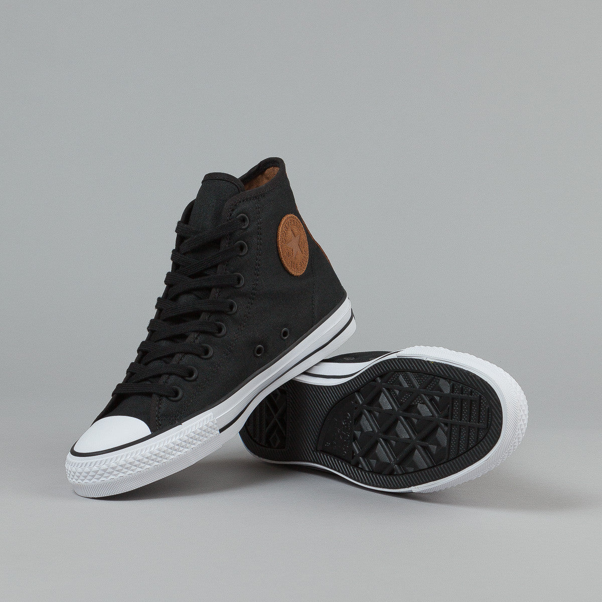 Converse CTAS Pro HI Shoes (Workwear Canvas) - Black / Rubber / White