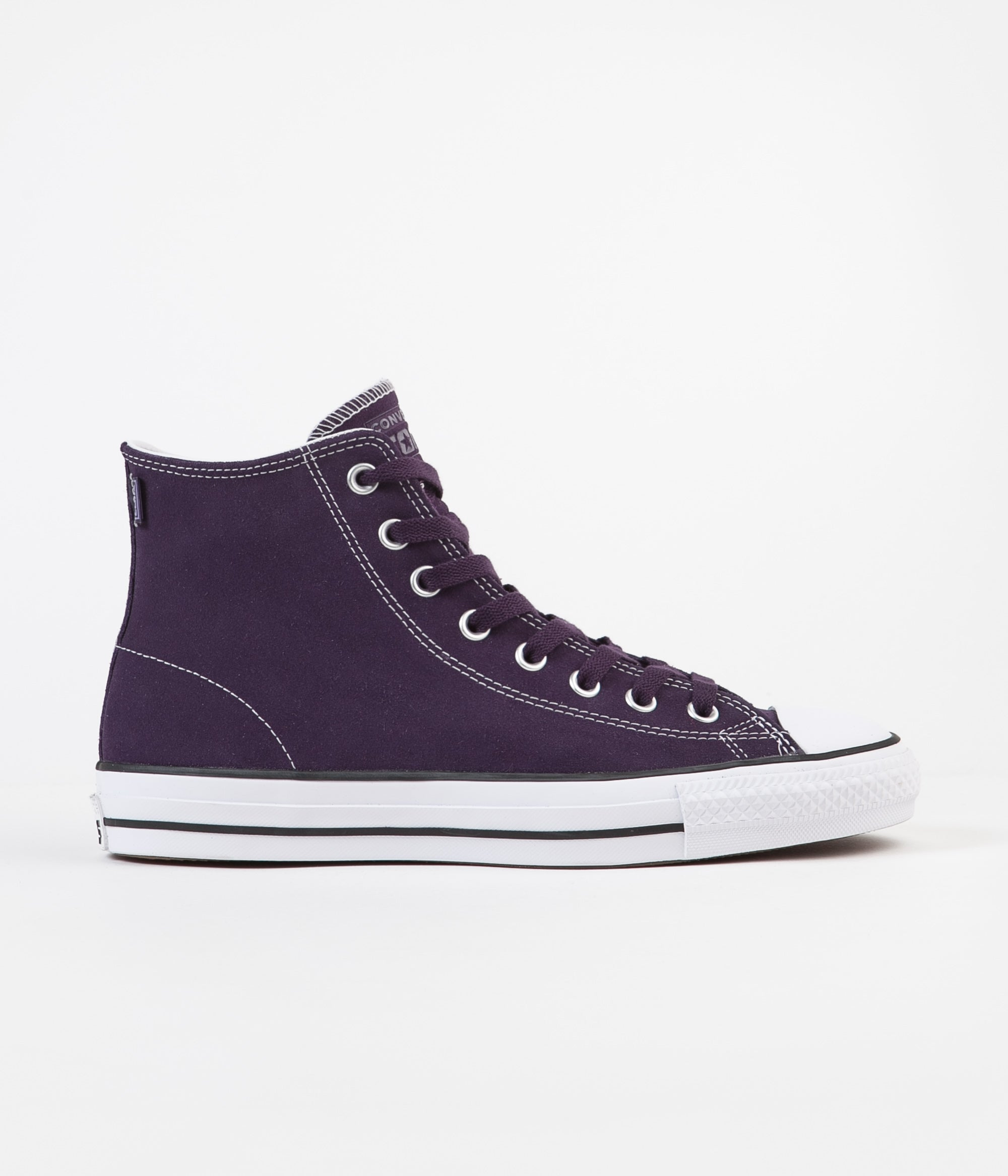 Converse CTAS Pro Hi Suede Shoes - Grand Purple / Vivid Sulfur / White