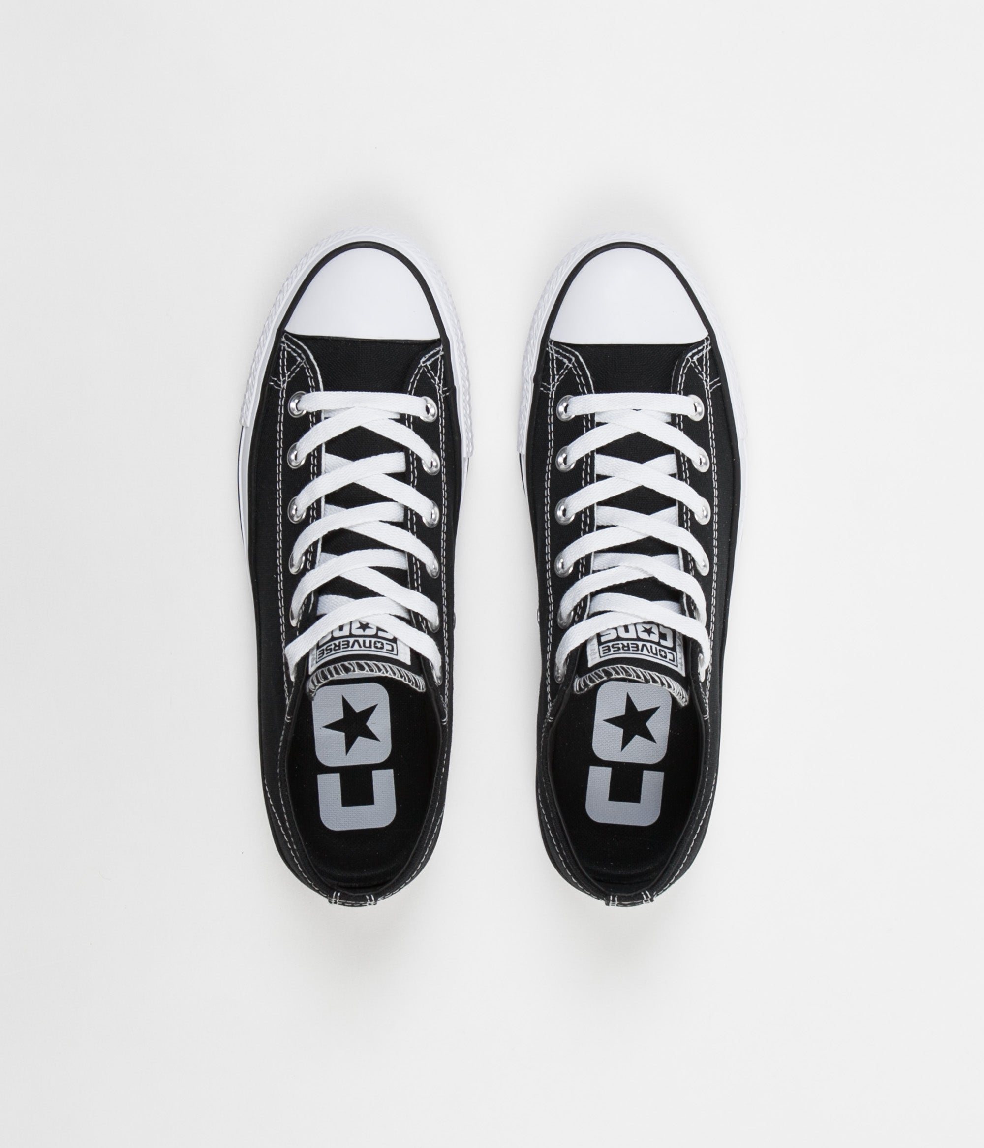 Converse CTAS Pro Ox Canvas Shoes - Black / Black / White