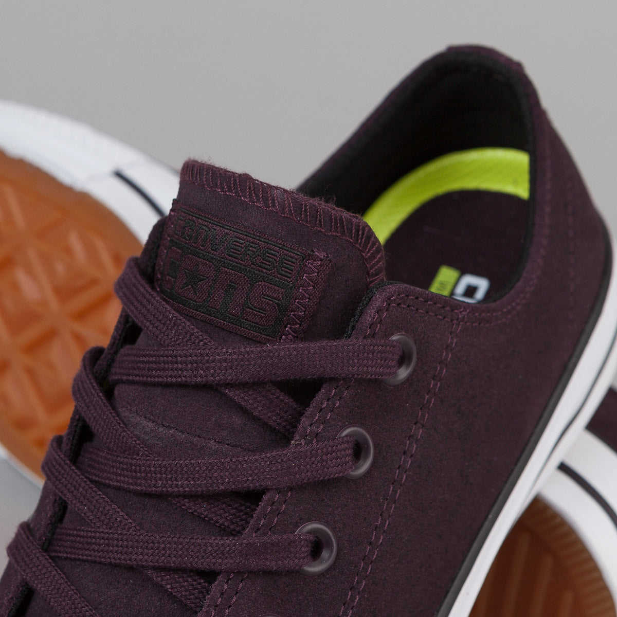 Converse CTAS Pro OX Shoes - Black Cherry / Black / White