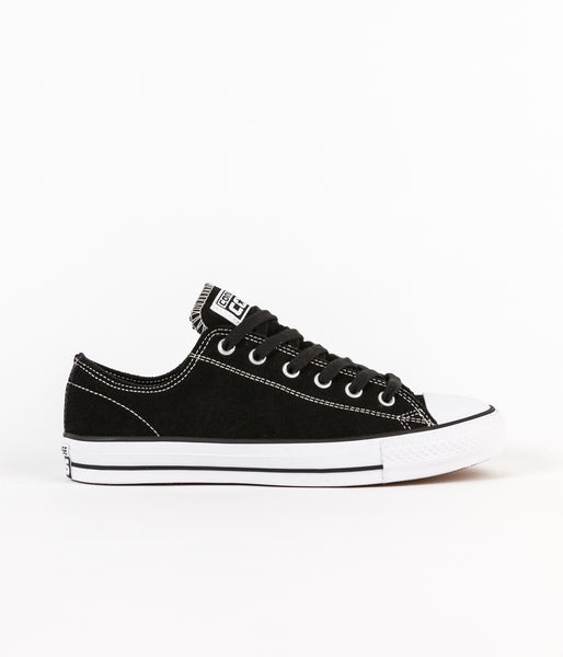Converse CTAS Pro OX Suede Shoes - Black / White