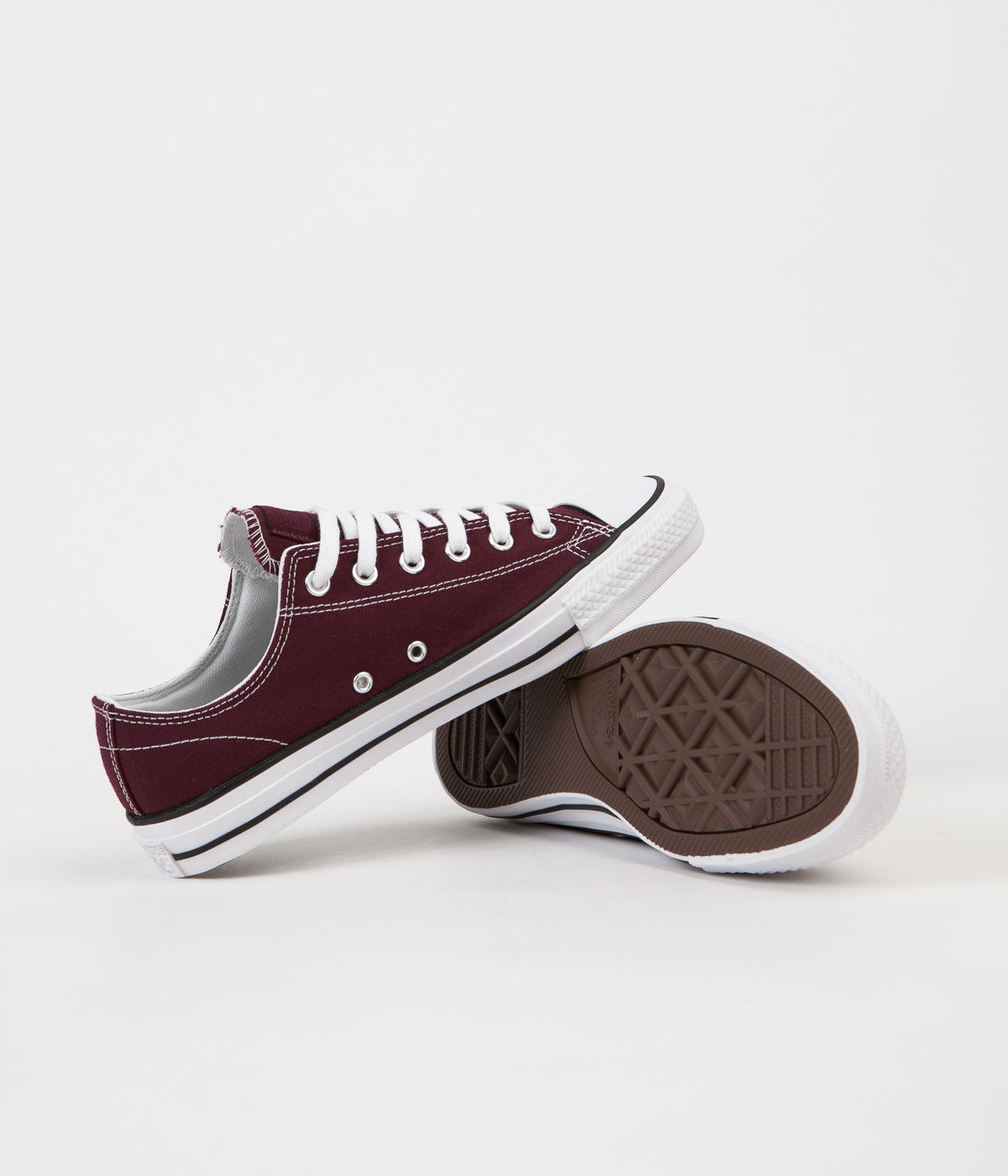 Converse CTAS Pro Ox Shoes - Dark Sangria / White