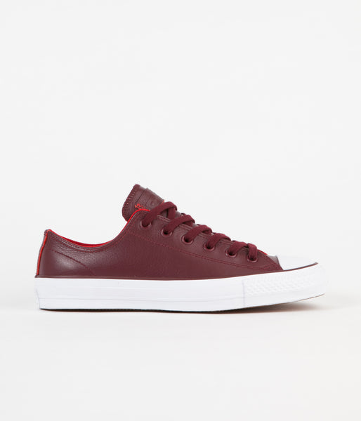 Converse CTAS Pro Ox Shoes - Deep Bordeaux / Casino / White