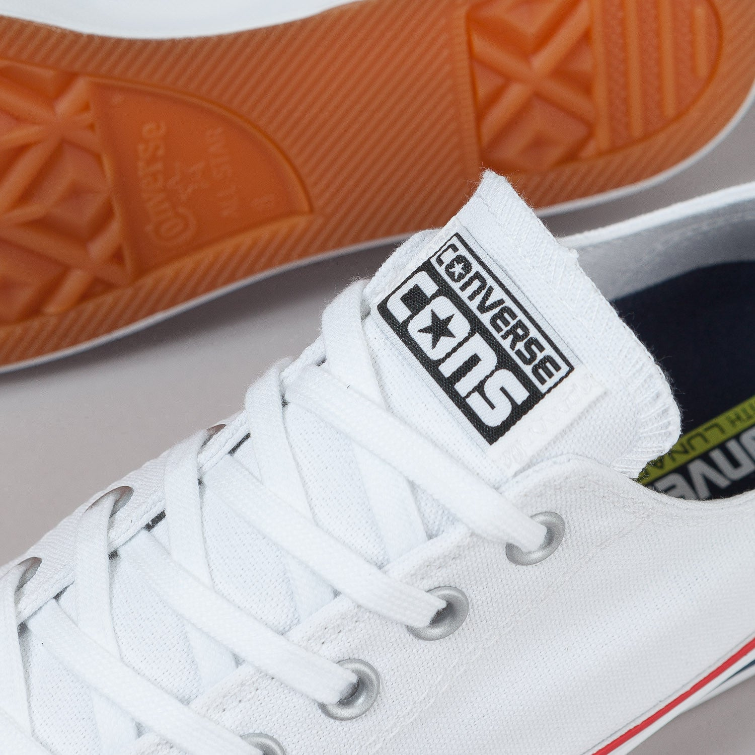 Converse CTAS Pro OX Shoes - White / Red / Navy