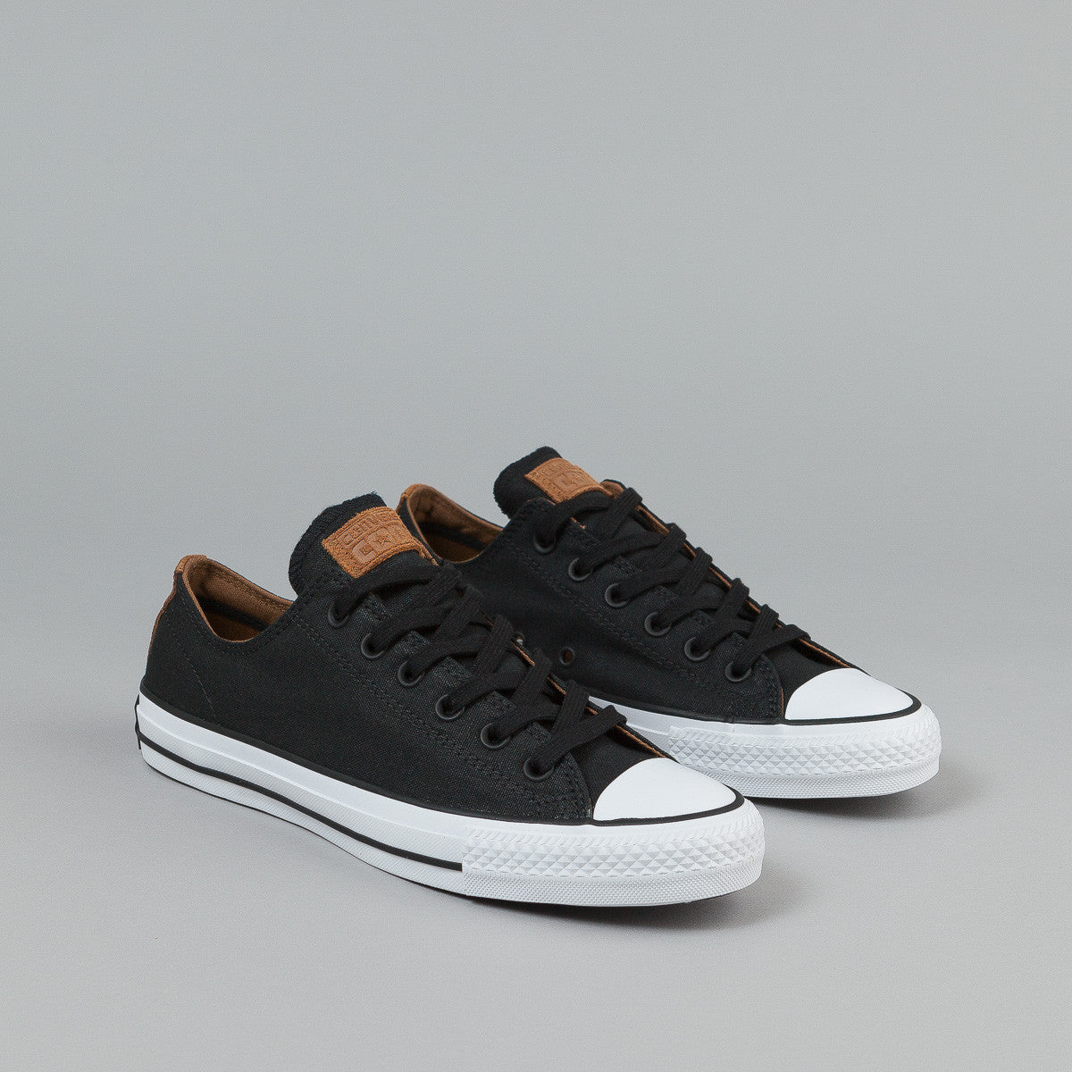 Converse CTAS Pro OX Shoes (Workwear Canvas) - Black / Rubber / White