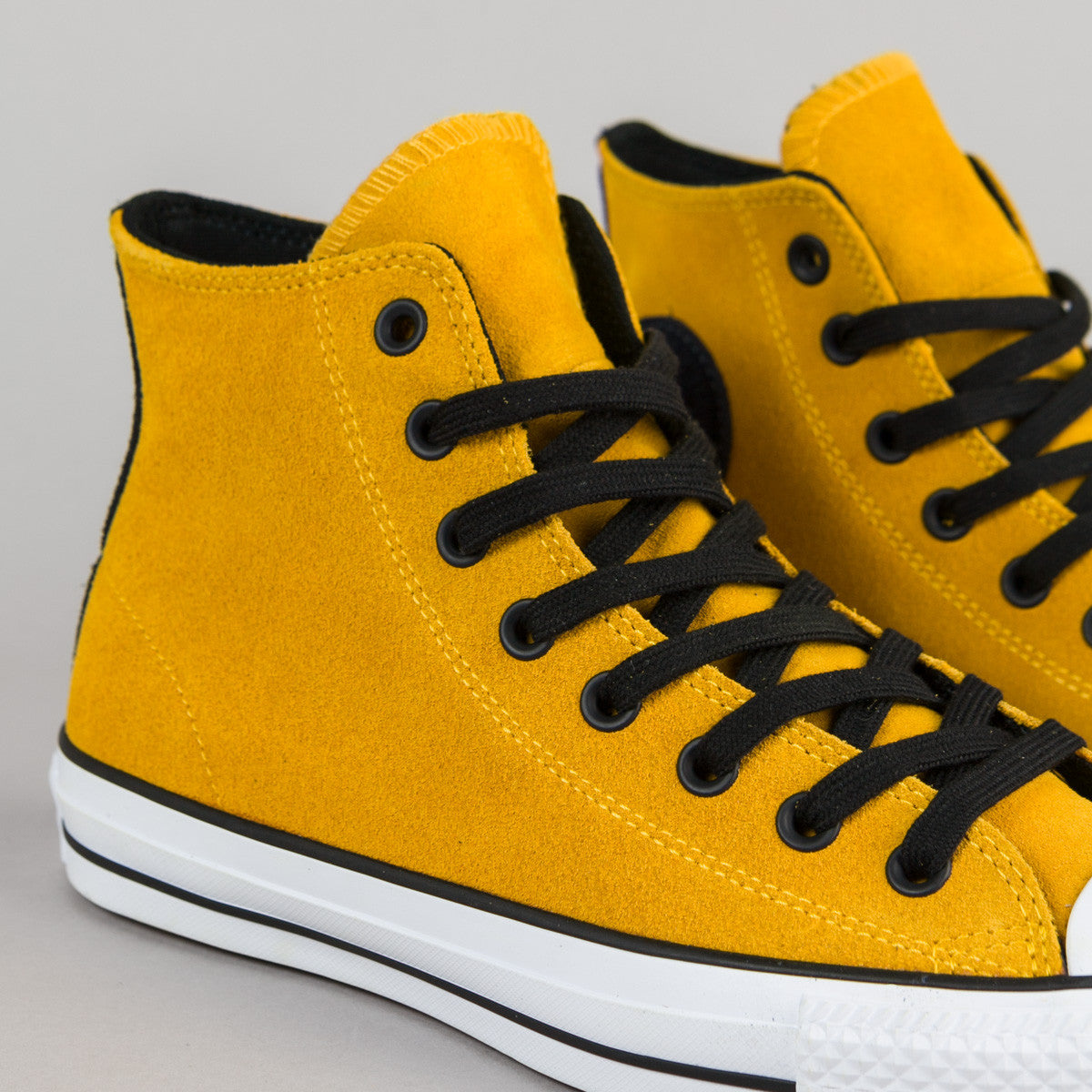 Converse CTAS Pro Suede Hi Shoes - Yellow / Black / Obsidian