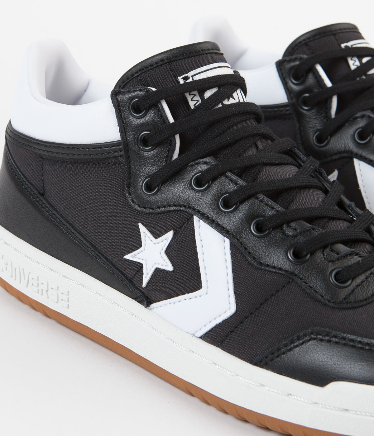 Converse Fastbreak Pro Mid Leather OG Block Shoes - Black / White / Gum