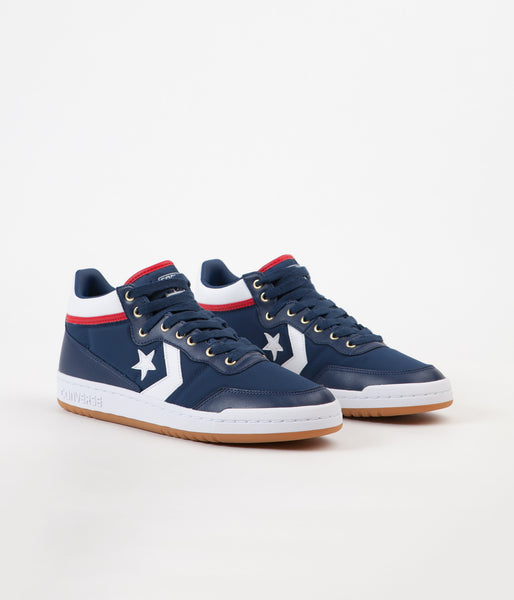 879def2762a7 Converse Fastbreak Pro Mid Shoes - Navy   White   Enamel Red