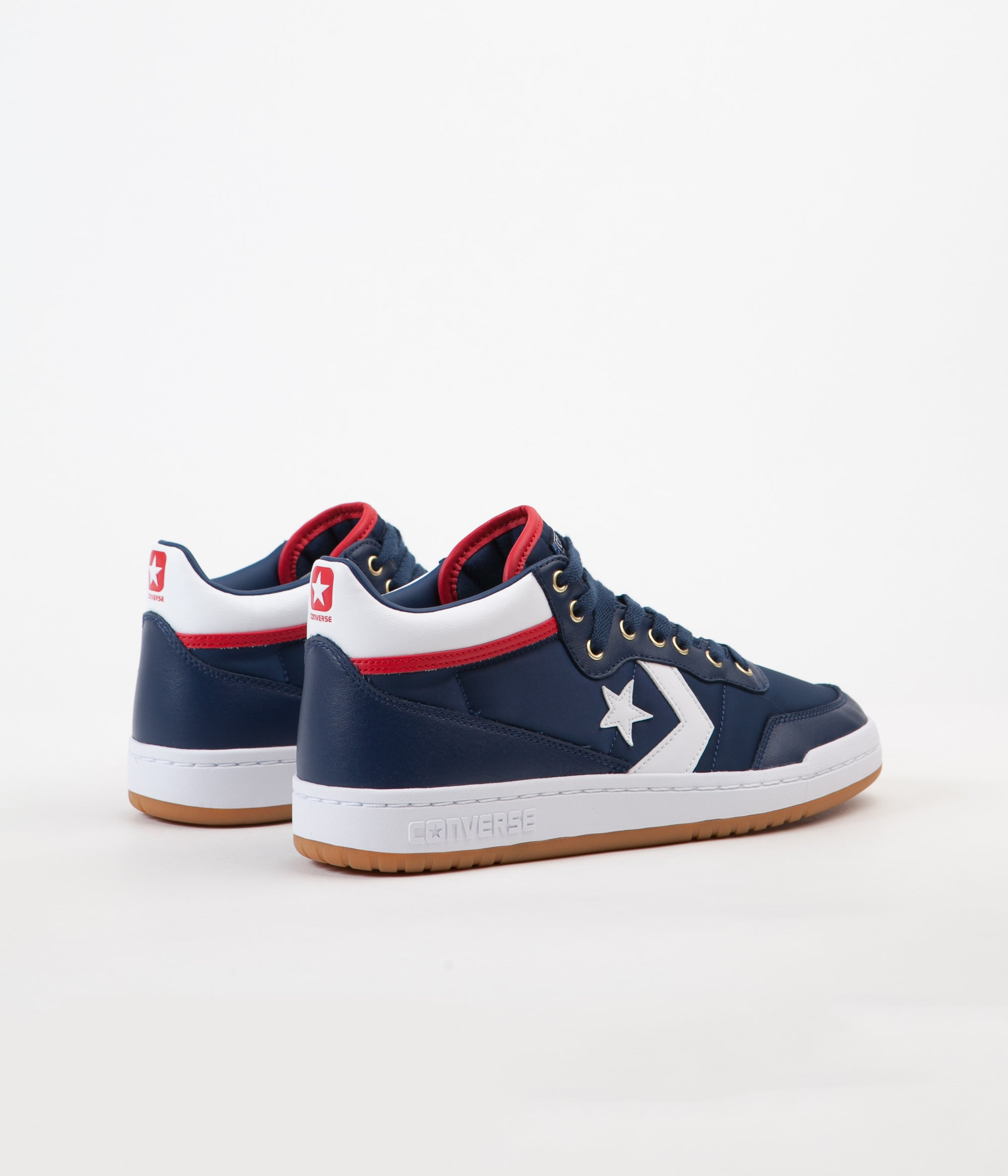 ... Converse Fastbreak Pro Mid Shoes - Navy   White   Enamel Red ... a698322d6