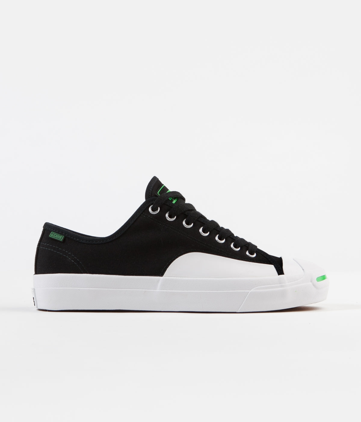 Converse Jack Purcell Pro Op Ox Shoes - Black / Acid Green / White