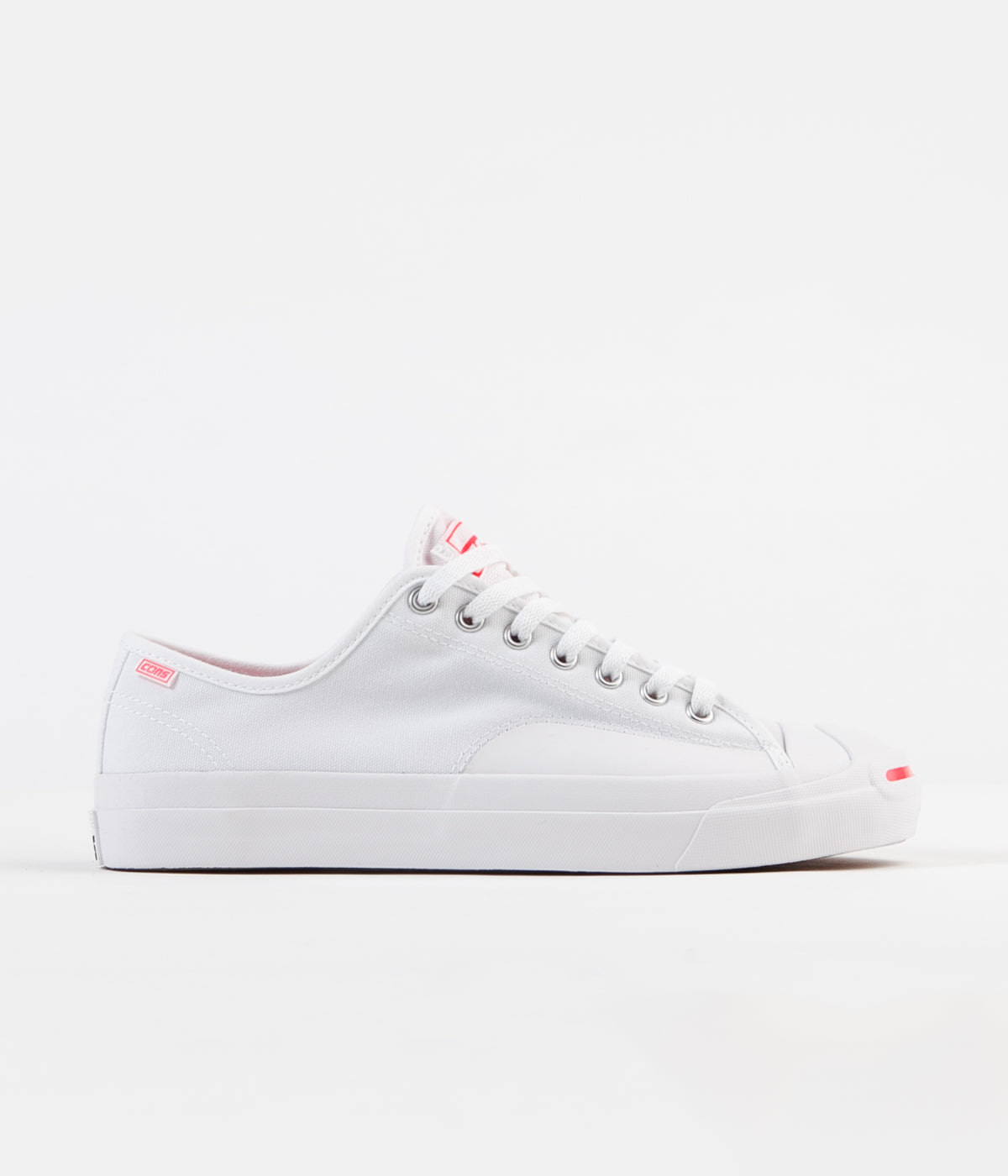 1e8c9d51df13 Converse Jack Purcell Pro Op Ox Shoes - White   Racer Pink   White ...