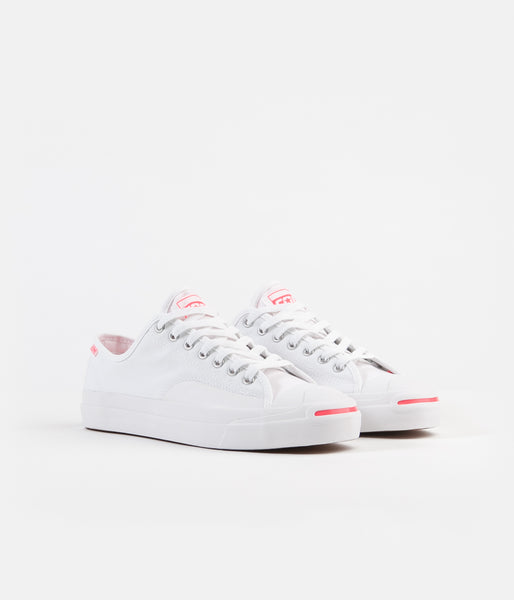 Converse Jack Purcell Pro OP OX Shoes White Racer Pink White