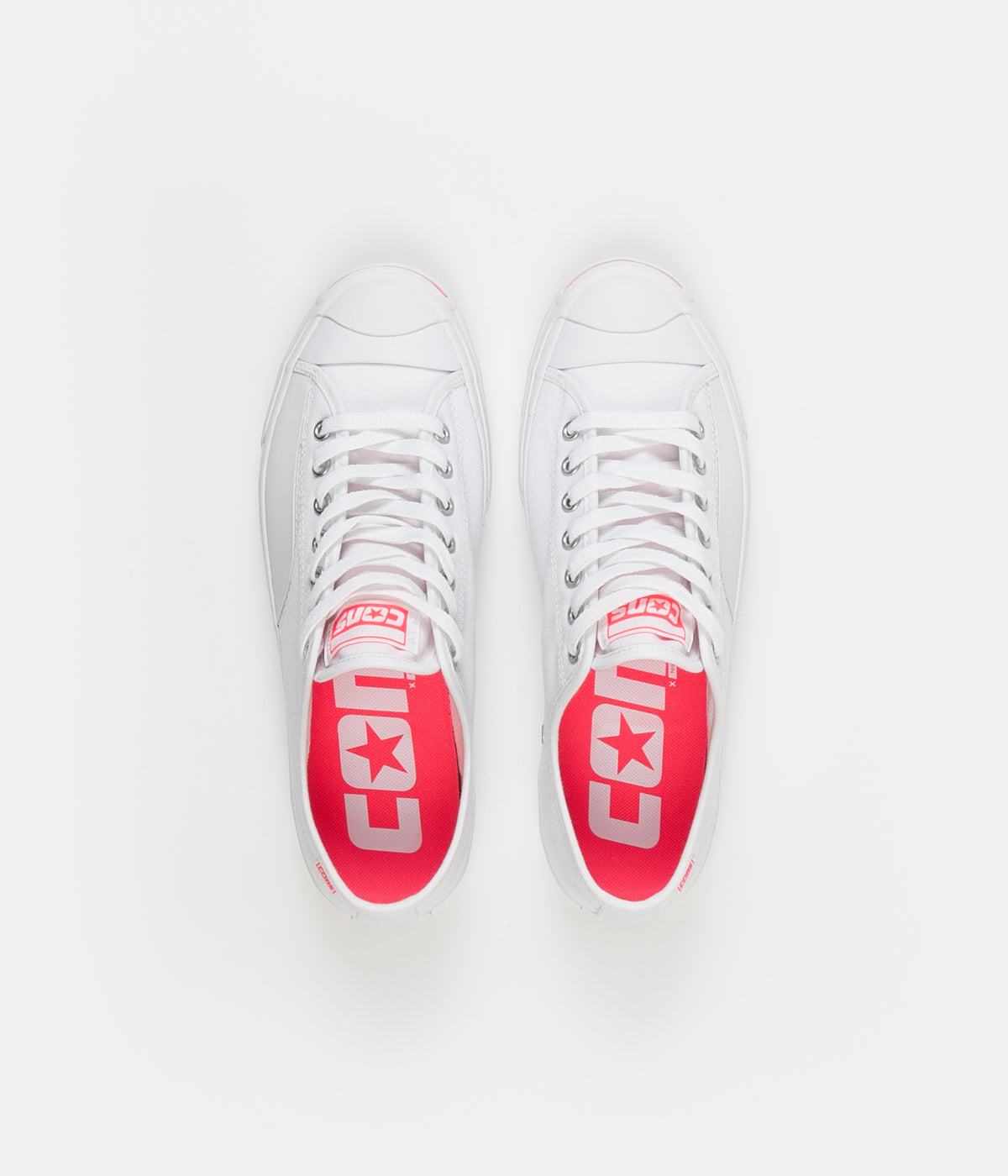 Converse Jack Purcell Pro Op Ox Shoes White Racer Pink