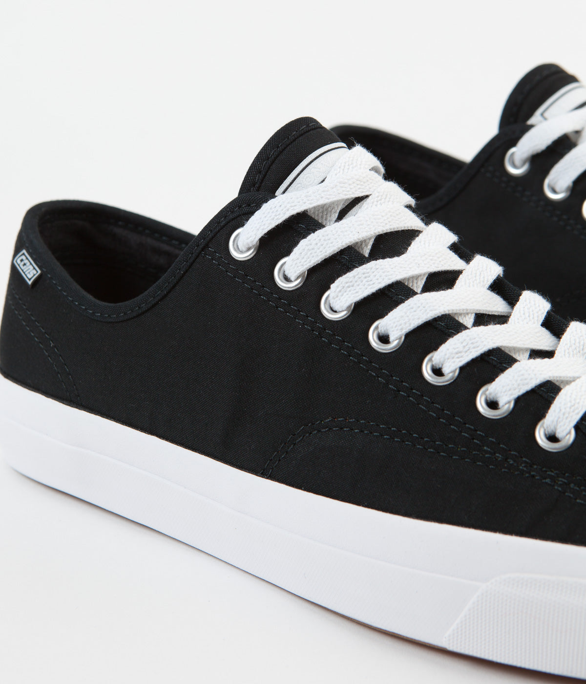 Converse Jack Purcell Pro Ox Archive Print Shoes - Black / White / Black