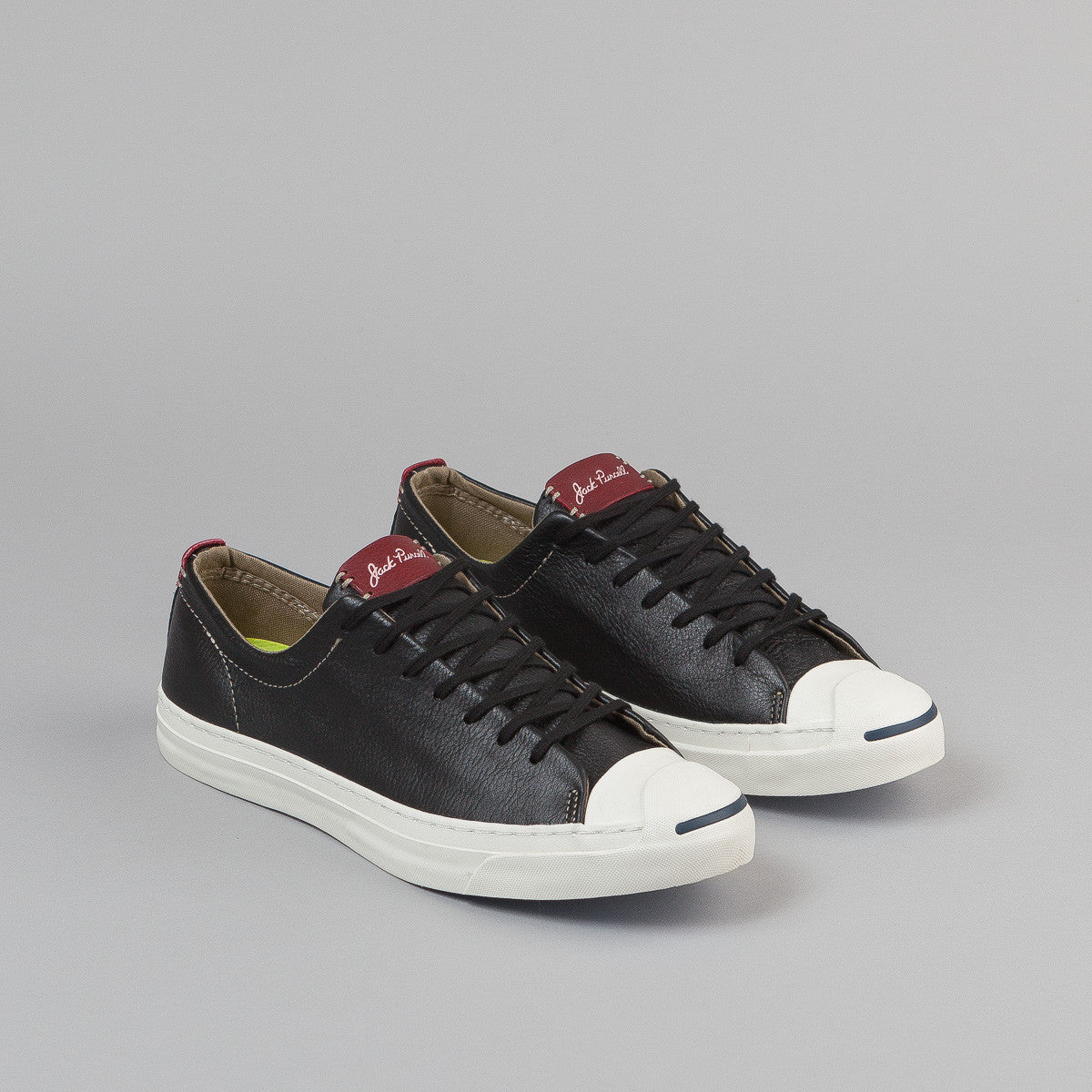 Converse JP Jack OX Shoes - Black / Egret / Back Alley Brick