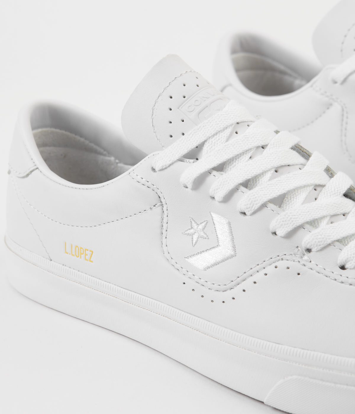 Converse Louie Lopez Pro Ox Shoes - White / White / White