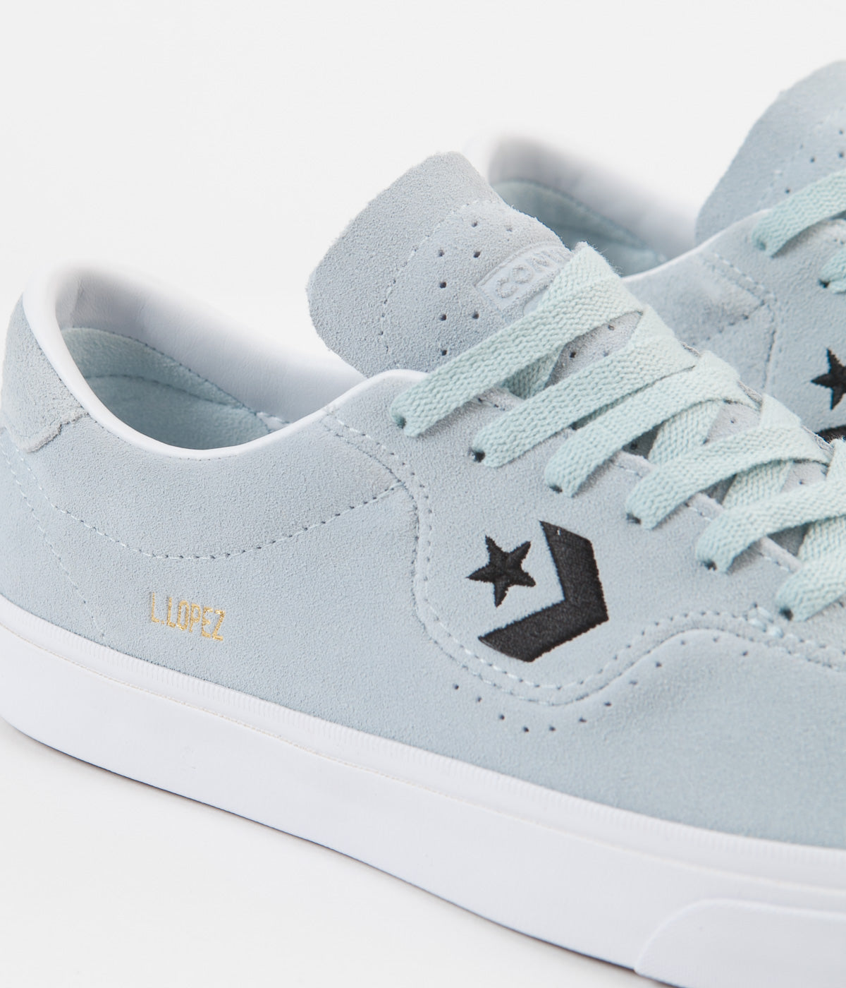 Converse Louie Lopez Pro Ox Suede Shoes - Polar Blue / Black / White