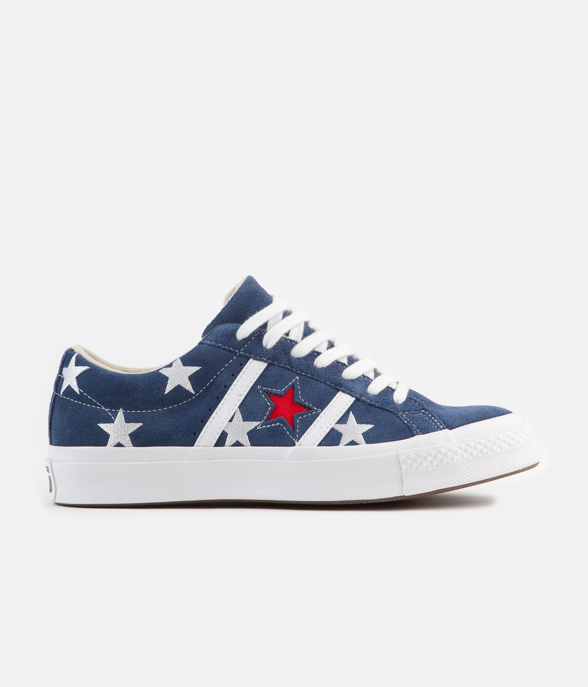 Converse One Star Academy Ox Archive Print Remixed Shoes - Navy / Enamel Red / White
