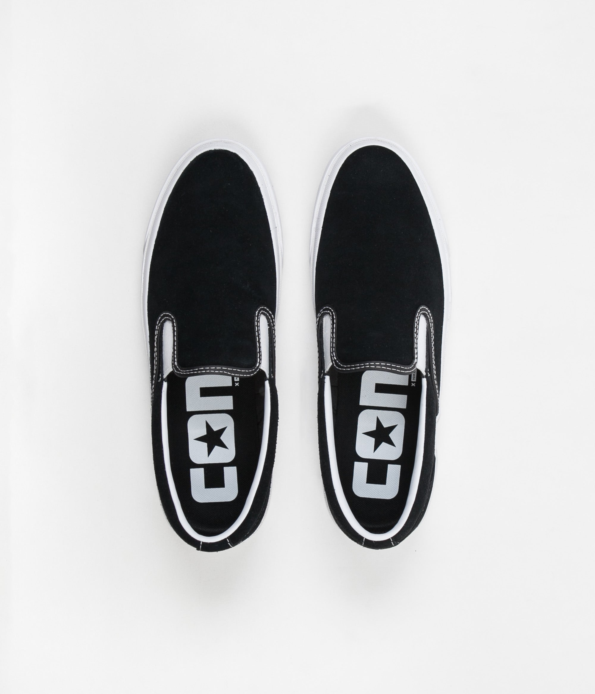 Converse One Star CC Slip On Shoes - Black   White   White ... ab1e404ab9802