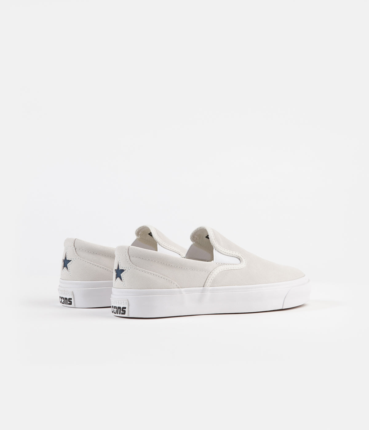 Converse One Star CC Slip On Shoes - Egret / Navy / White