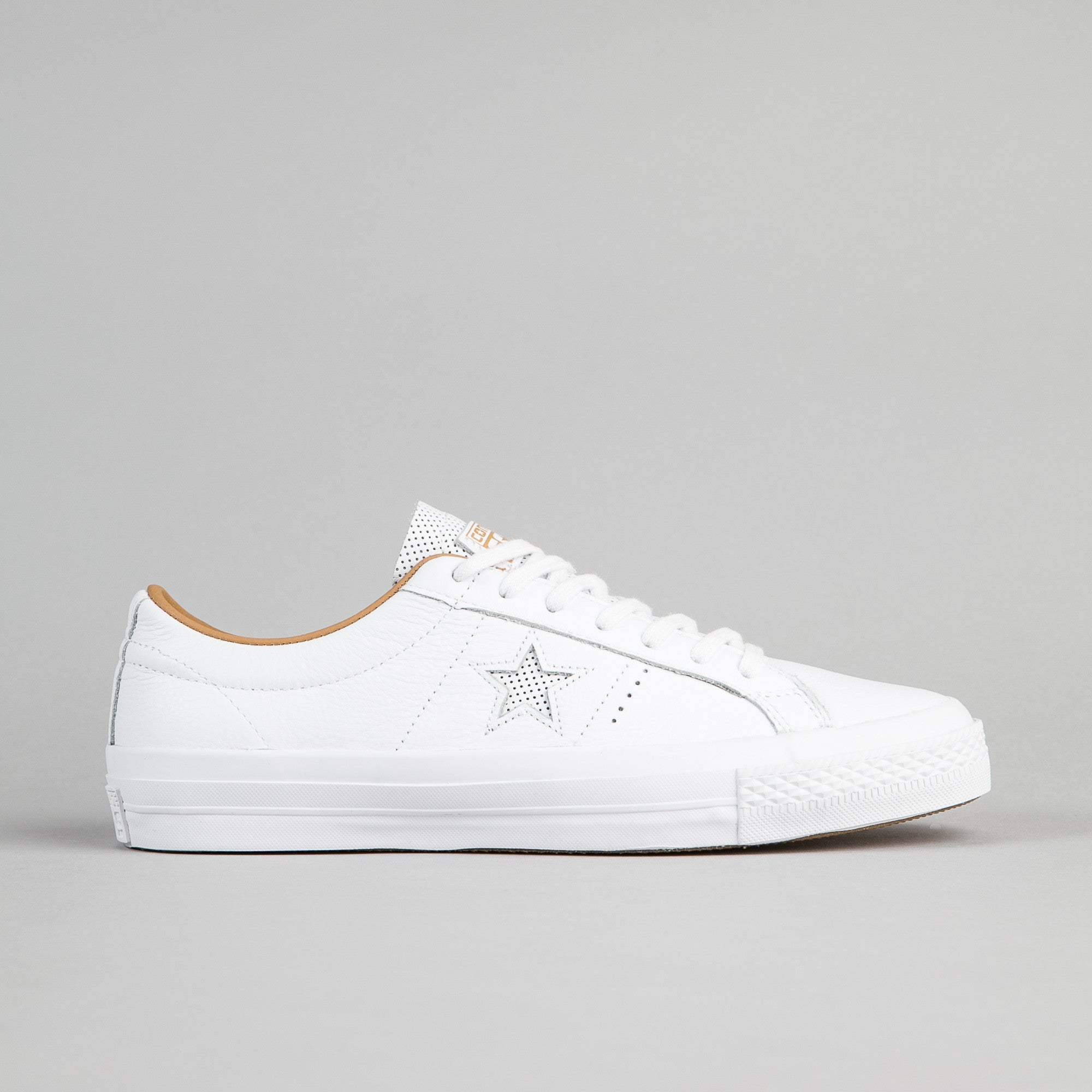 e7b26c193e01 Converse One Star Leather OX Shoes - White   Sand Dune