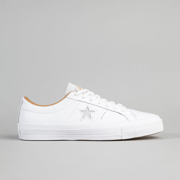 Converse One Star Leather OX Shoes - White / Sand Dune
