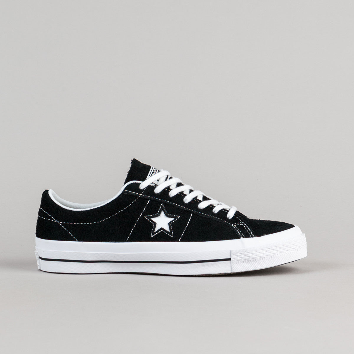 Converse One Star OX Shoes - Black / White / Gum
