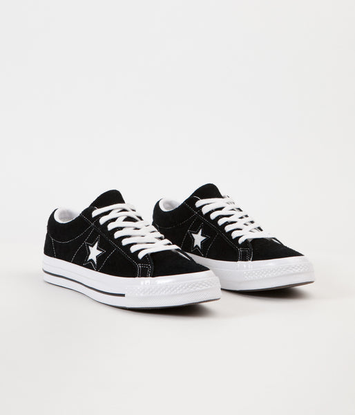 low priced d3574 87943 Converse One Star Ox Shoes - Black   White   White   Flatspot