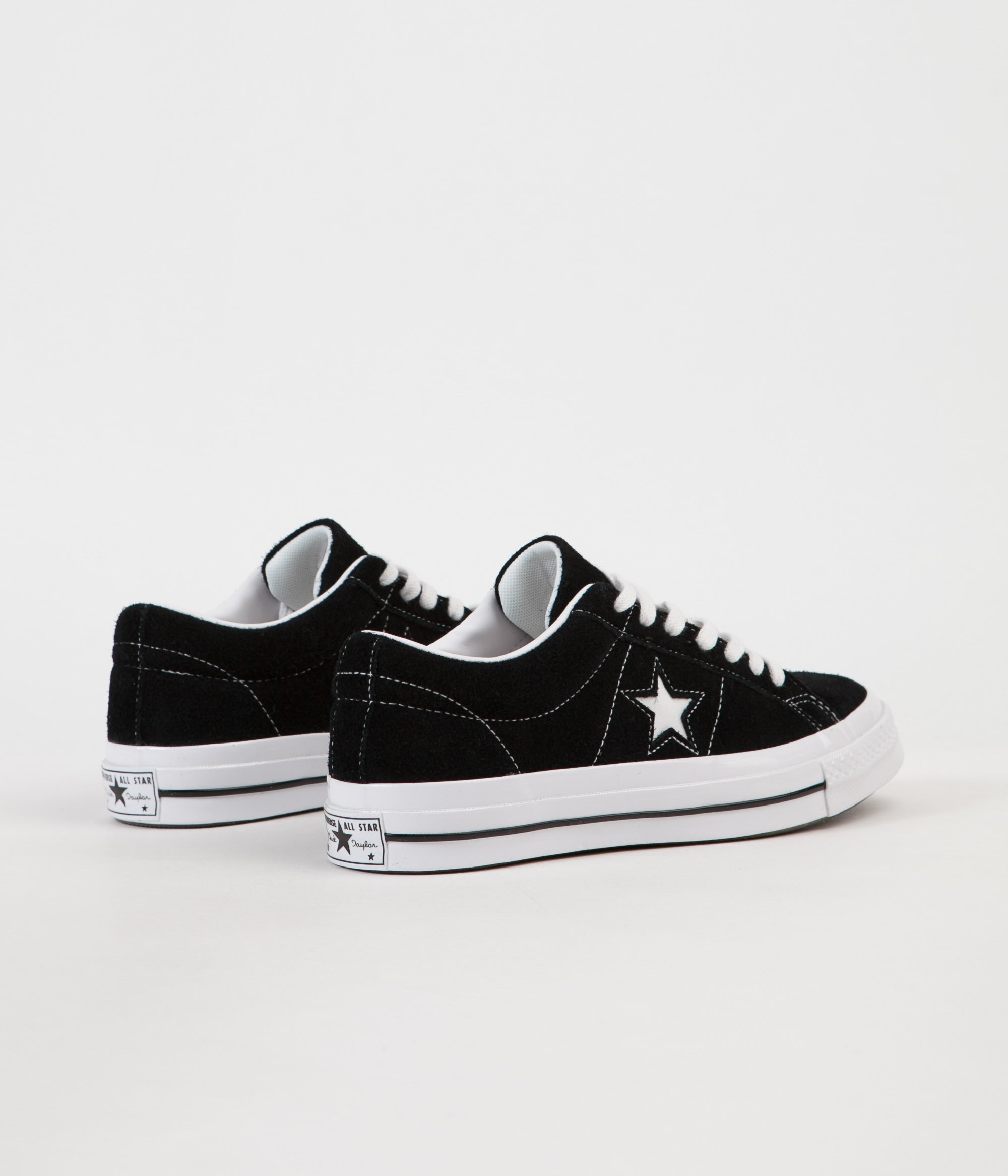 ... Converse One Star Ox Shoes - Black   White   White ... d683b8efda174