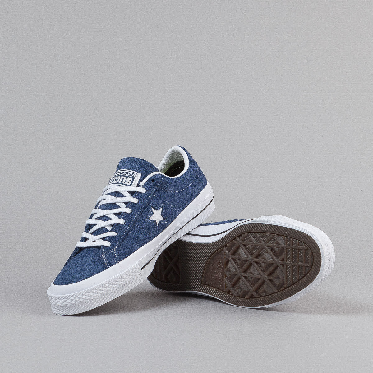 Converse One Star OX Shoes - Navy / White / Gum