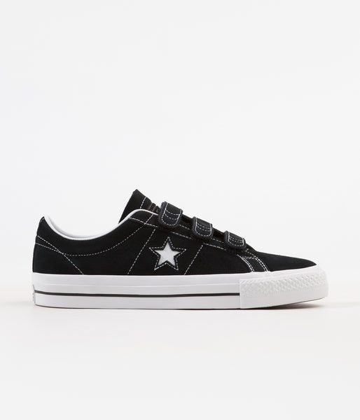 788ebca5d1d Converse One Star Pro 3V Ox Shoes - Black   Pomegranate Red   White ...