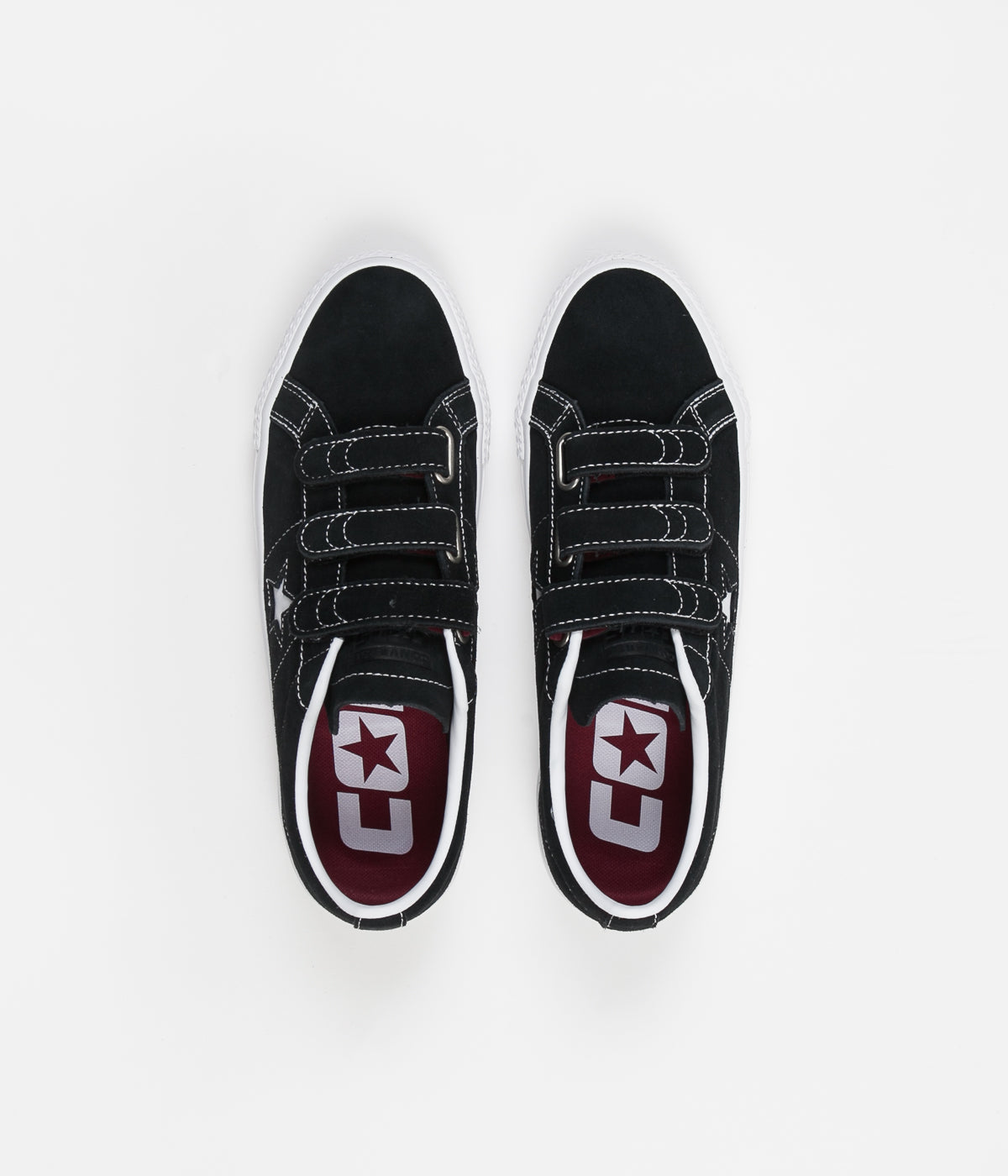 225fee5ca1af2a Converse One Star Pro 3V Ox Shoes - Black   Pomegranate Red   White ...