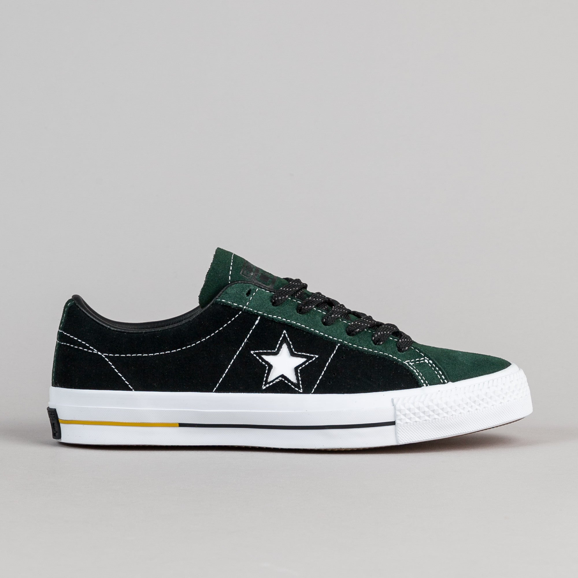 ... Converse One Star Pro Suede OX Shoes - Deep Emerald / Black ...