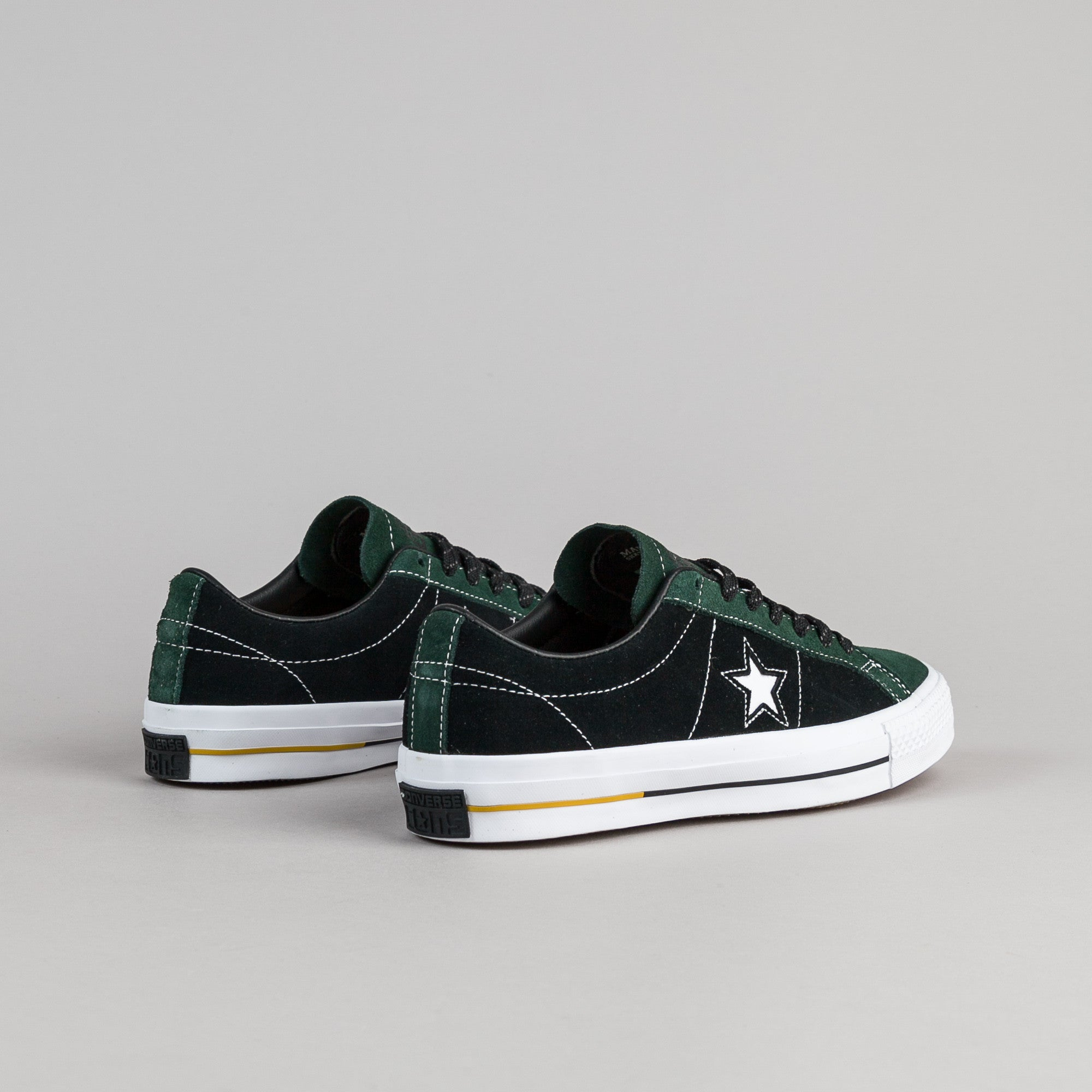 Converse One Star Pro Suede OX Shoes - Deep Emerald / Black