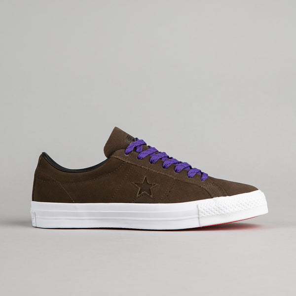 Converse One Star Pro Leather OX Shoes - Hot Cocoa / Black