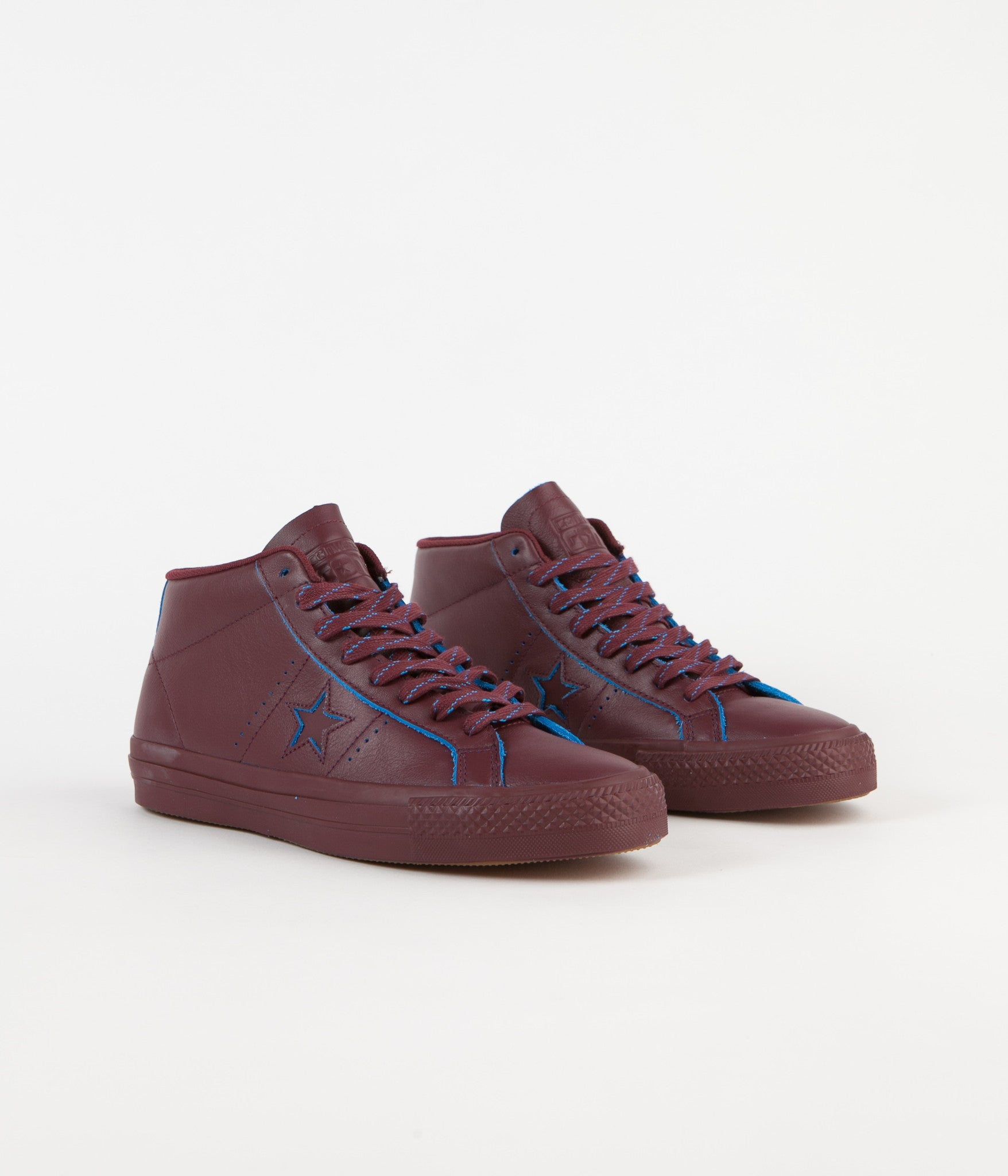 Converse One Star Pro Mid Shoes - Deep Bordeaux