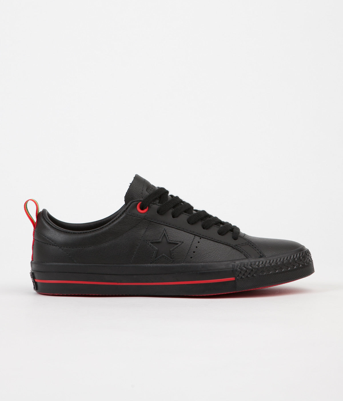 Converse One Star Pro Ox Eli Reed Shoes - Black / Black / White