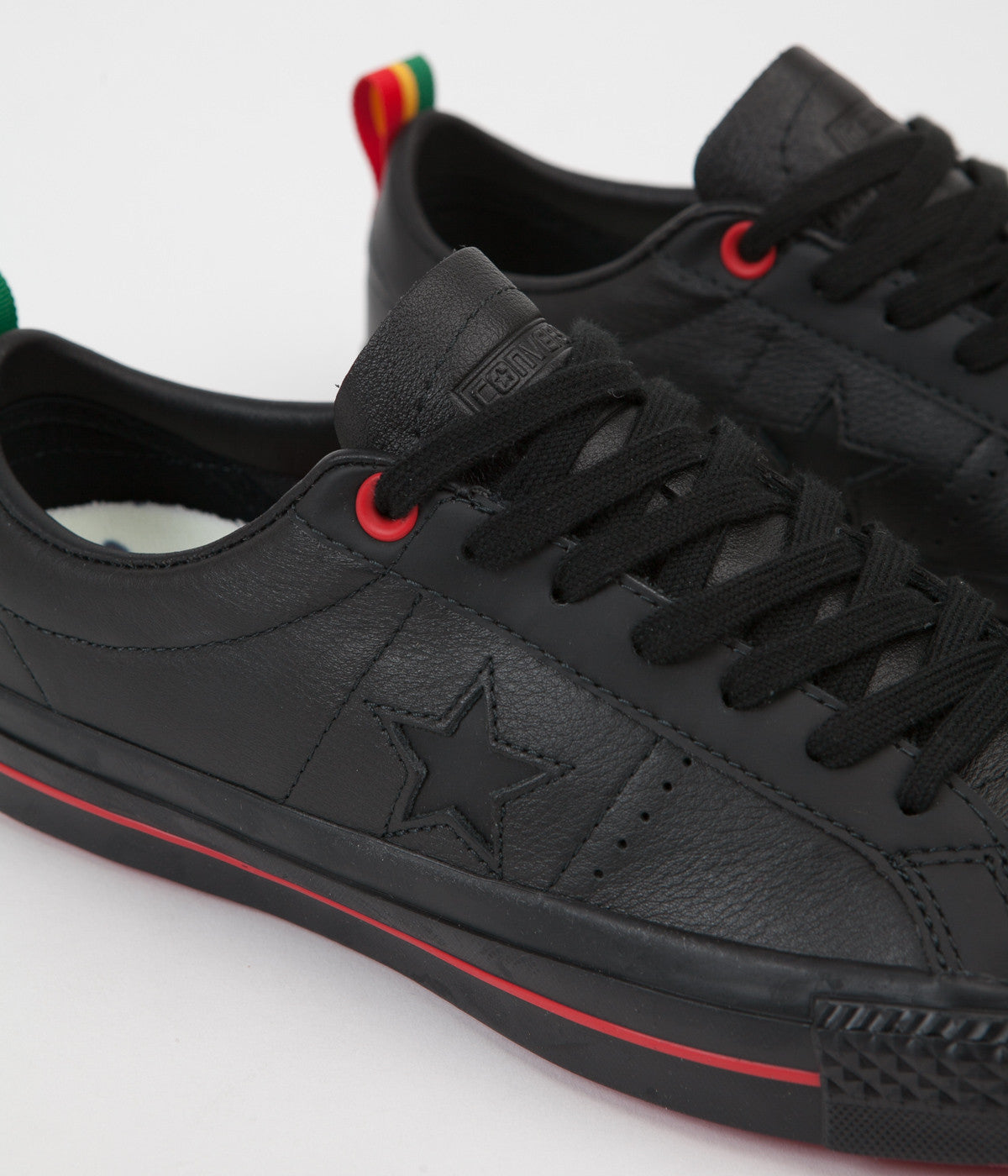4bff09623b6d ... Converse One Star Pro Ox Eli Reed Shoes - Black   Black   White ...