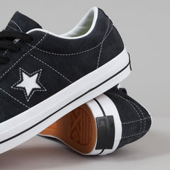Converse One Star Pro Ox QS Shoes - Black / White