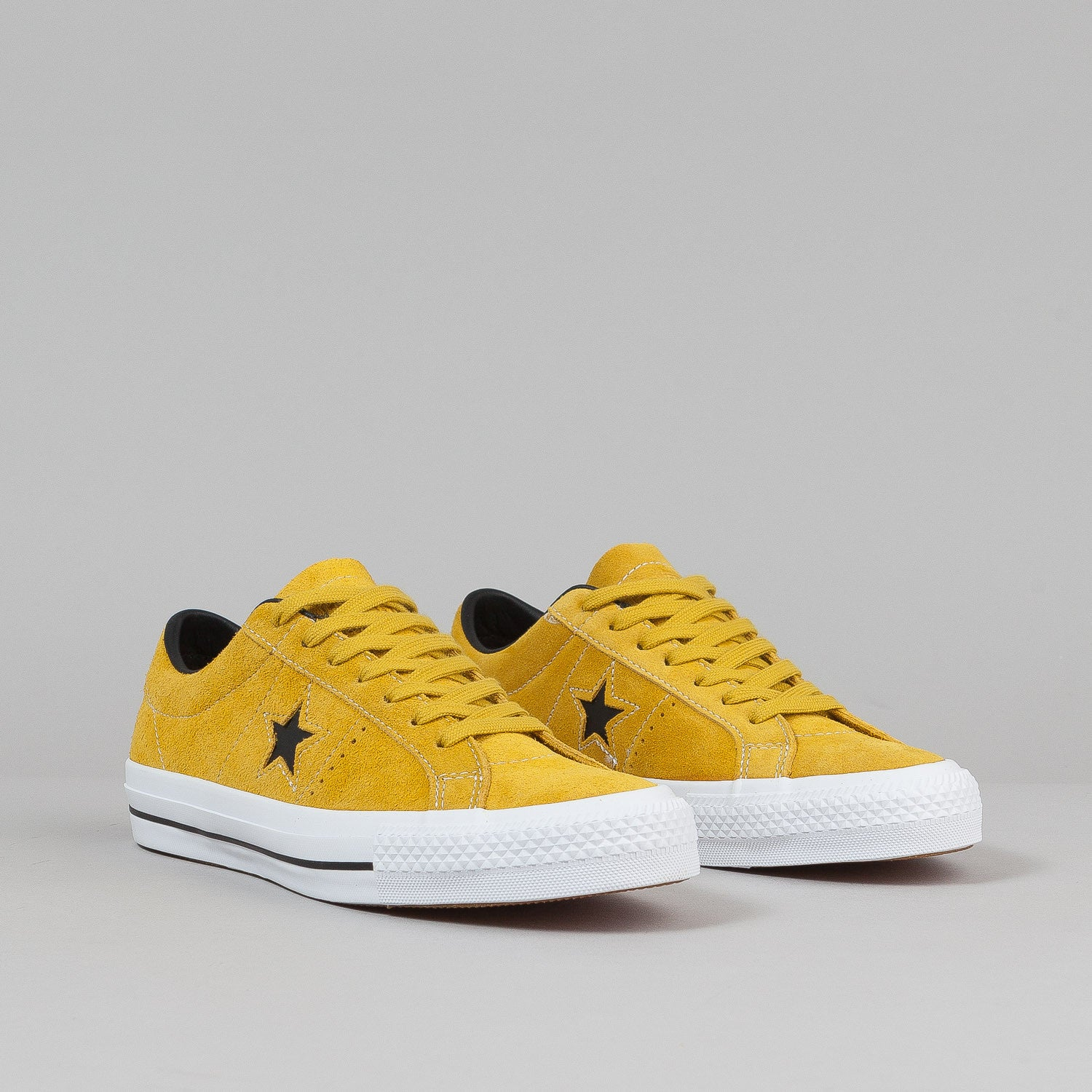 Converse One Star Pro Ox QS Shoes - Yellow Bird / Black / White