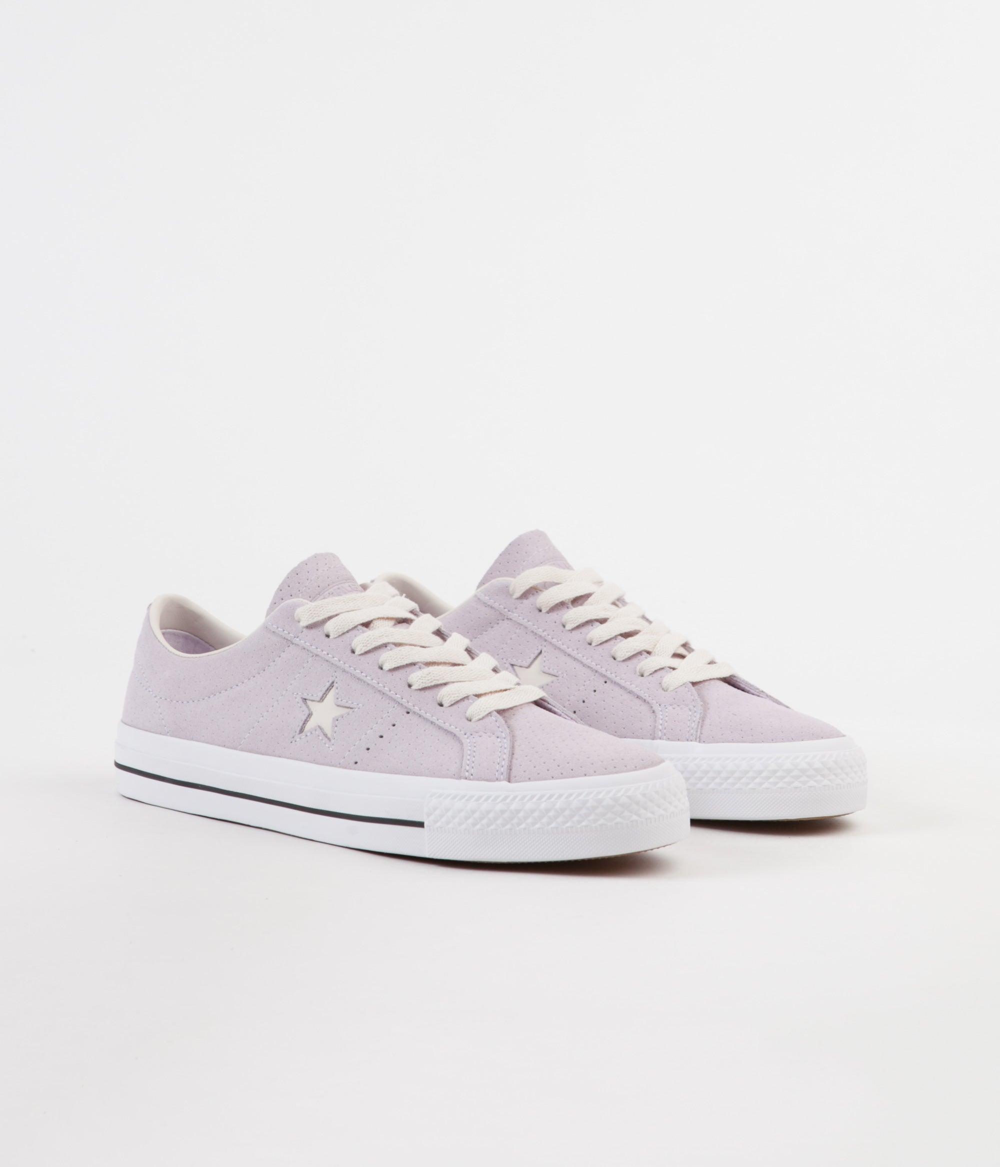 12c22b2c9561 ... Converse One Star Pro Ox Shoes - Barely Grape   Driftwood ...